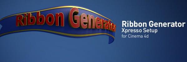 Ribbon Generator Xpresso Setup for Cinema 4d