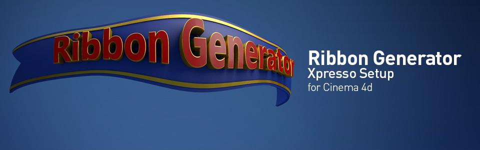 Ribbon Generator | Cinema 4D Scripts & Plugins